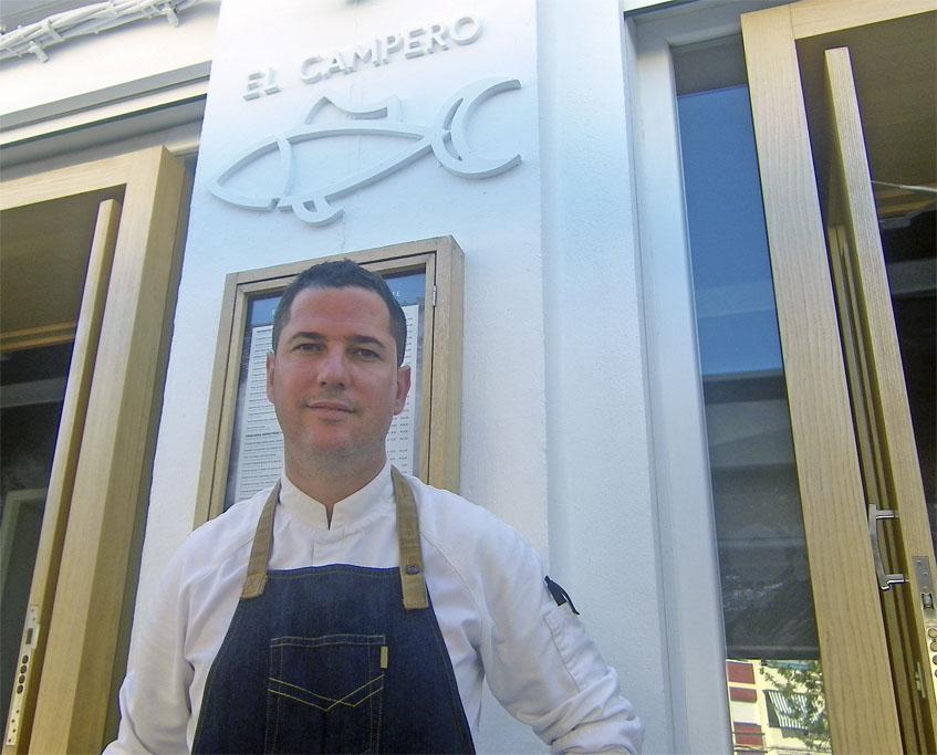 El cocinero Julio Vázquez de El Campero. Foto: Cosasdecome