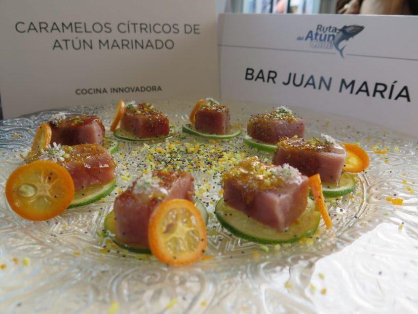 Caramelos cítricos de atún marinero de Juan María, primer premio de la categoría innovadora. Foto: CosasDeComé.