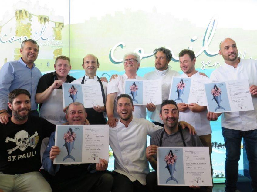 Los premiados, exultantes. Foto: CosasDeComé.