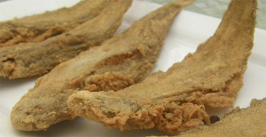 Acedías fritas de Casa Perico de Sanlúcar