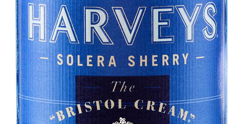 Una etiqueta que cambia de color cuando el Harveys Bristol Cream está a su temperatura