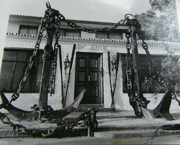 El primitivo restaurante Los Remos, que se abrió en 1957 y donde se empezaron a servir las ortiguillas. Foto: Cedida por el restaurante Los Remos.