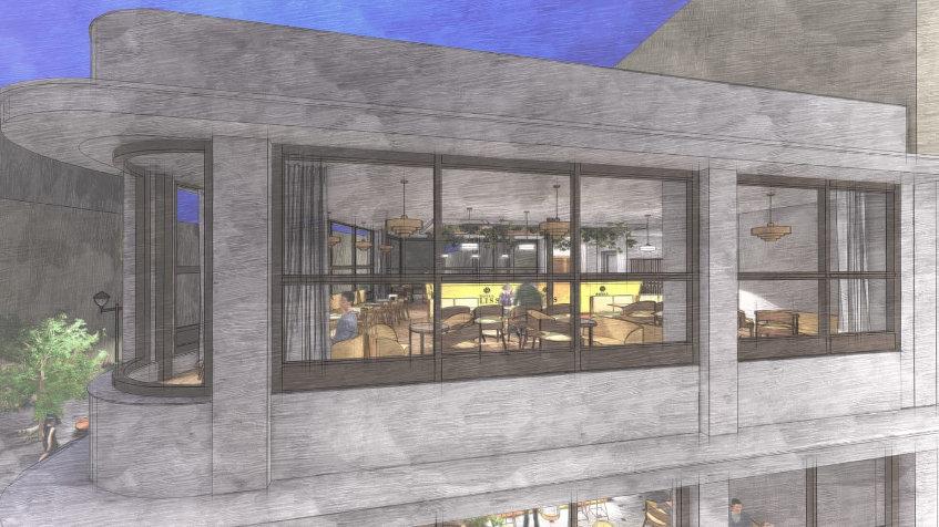 La planta alta vista desde fuera, según la simulación realizada para el proyecto.