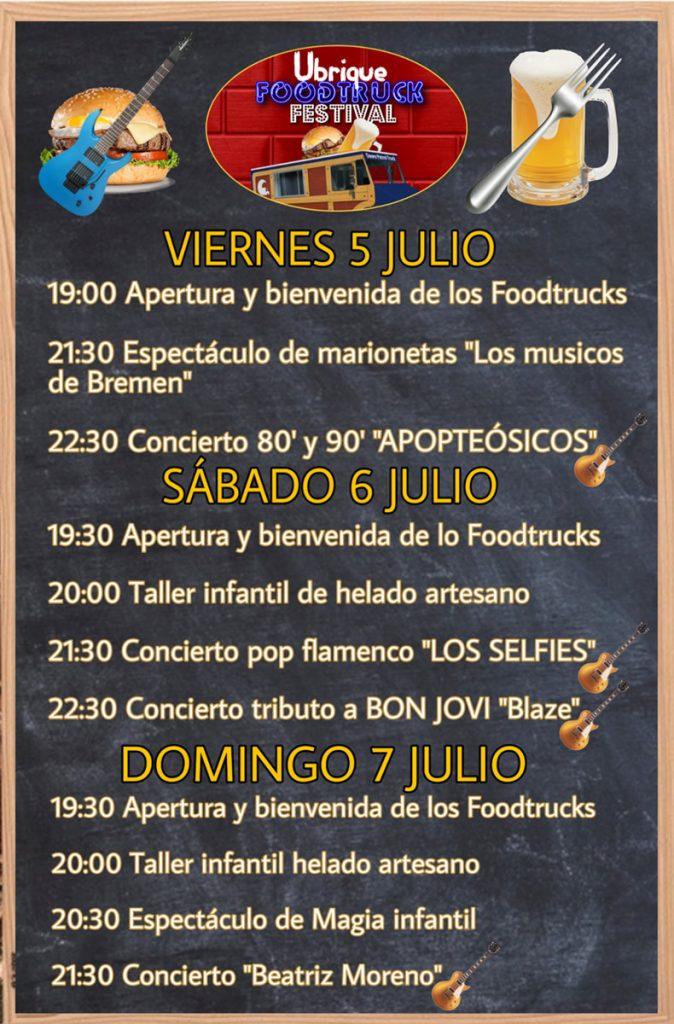 Programación Ubrique Foodtruck Festival