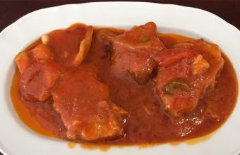 El cazón en tomate del restaurante La Pañoleta