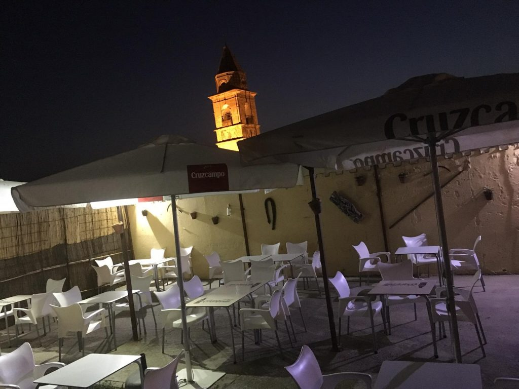 Terraza del castillo de Medina