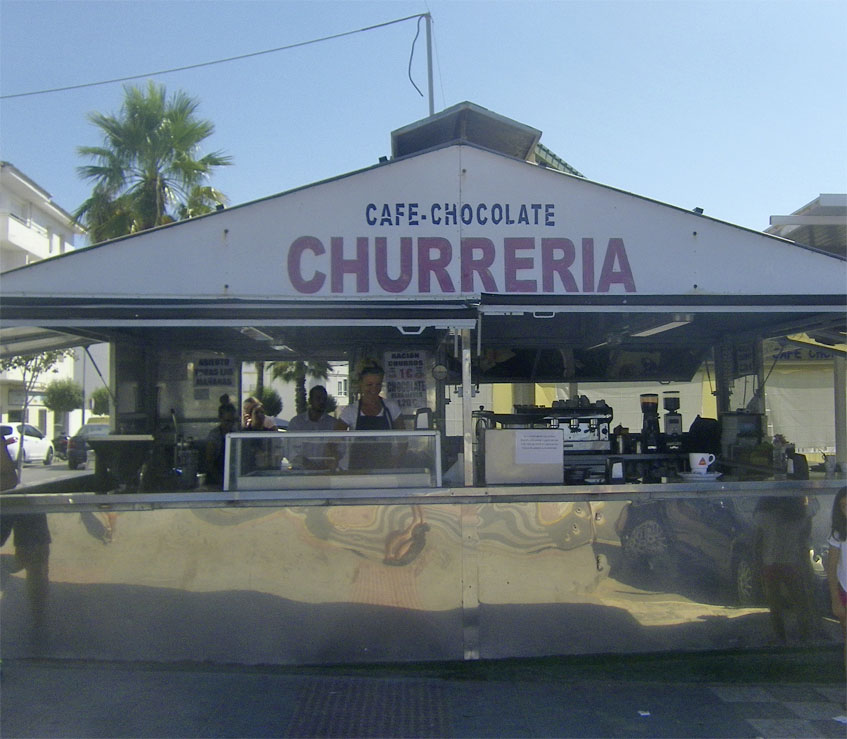 La churrería Playa. Foto: Cosasdecome