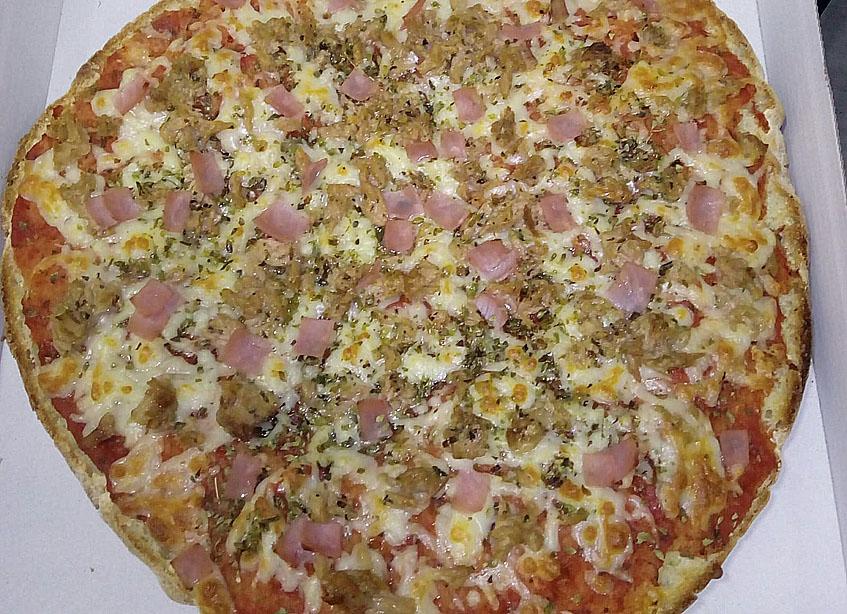 Así queda la mollepizza una vez horneada. Foto: Cedida por el establecimiento.