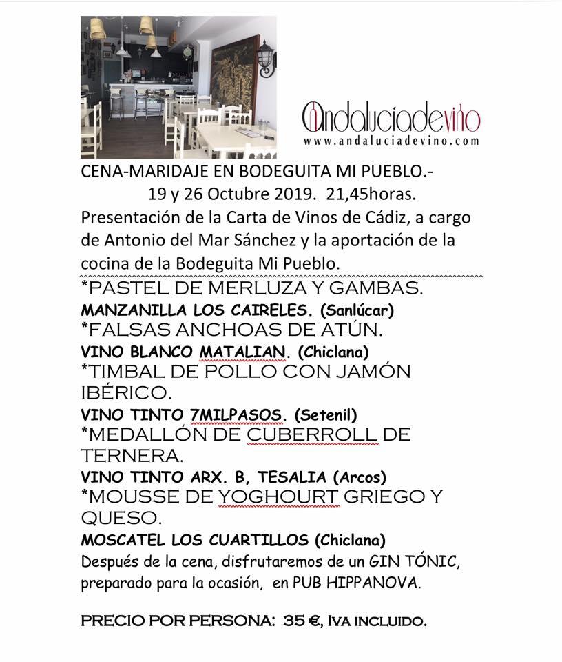 Cartel anunciador del acto de presentación de la nueva carta de vinos. Foto cedida por el establecimiento.