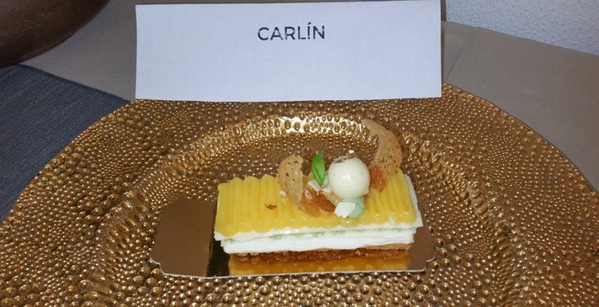 La milhoja de chocolate blanco de Yolanda Astorga, primer premio de la II Feria del Dulce y el Pan de Medina