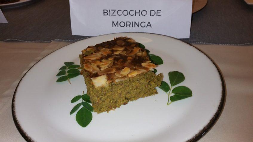 Bizcocho de moringa, el mejor puntuado en la categoría para aficionados. Fotos cedida por Amalia Berrueco