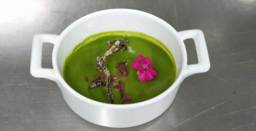 Sopa fría de plancton y algas de mar de El Copo de Los Barrios