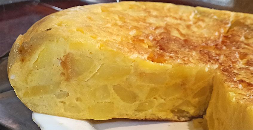 Tortillón de patatas al estilo del bar La Gallega