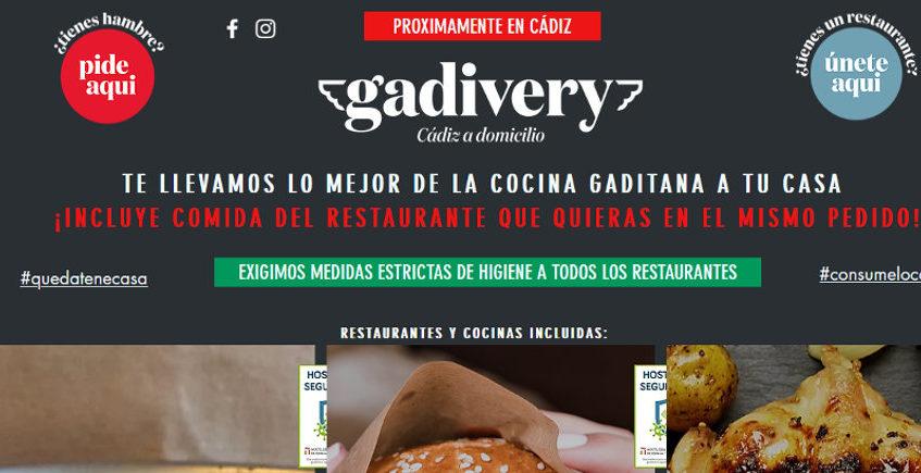 Gadivery ya funciona en Cádiz con seis tipos de comida a domicilio