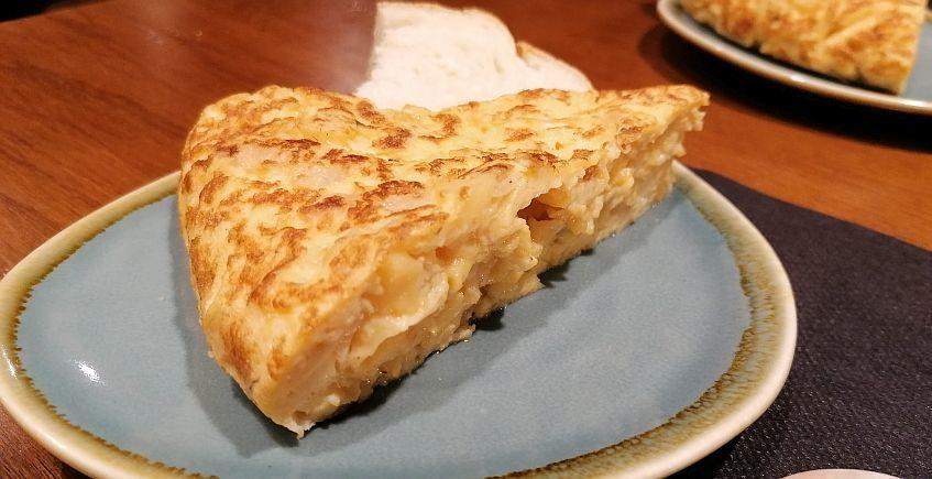 La tortilla de patatas de On Egin de Cádiz