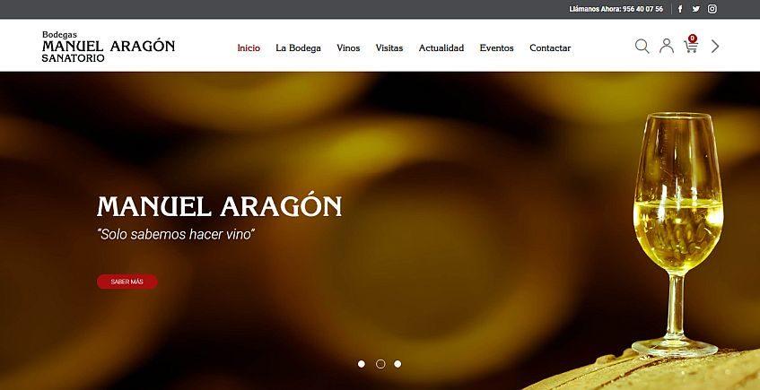 Bodegas Manuel Aragón crea una nueva web más intuitiva