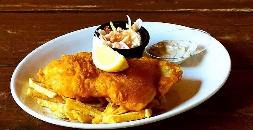 Fish & Chips en Molly Malone de El Puerto