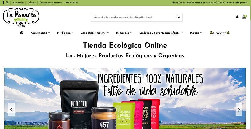 La Panacea Bio de Jerez abre todo un supermercado ecológico virtual