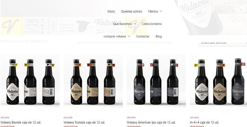 Cerveza Volaera ya tiene tienda online