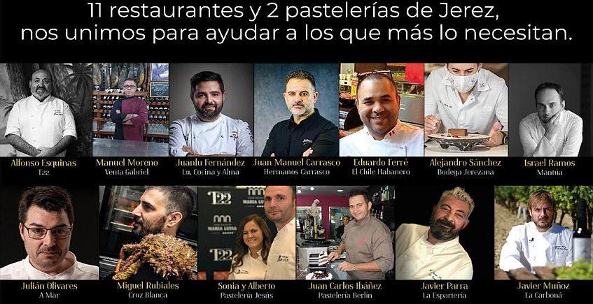 13 cocineros para un menú solidario