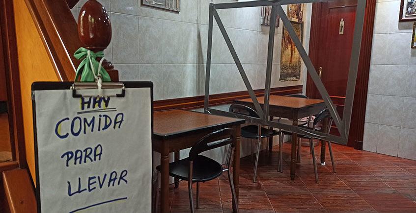 Interior bar cabañas