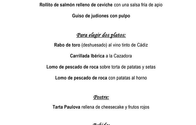 Menu El Chato