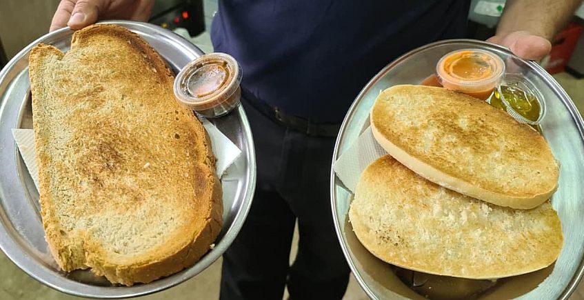 Gigantismo en el desayuno y pescaíto en el almuerzo