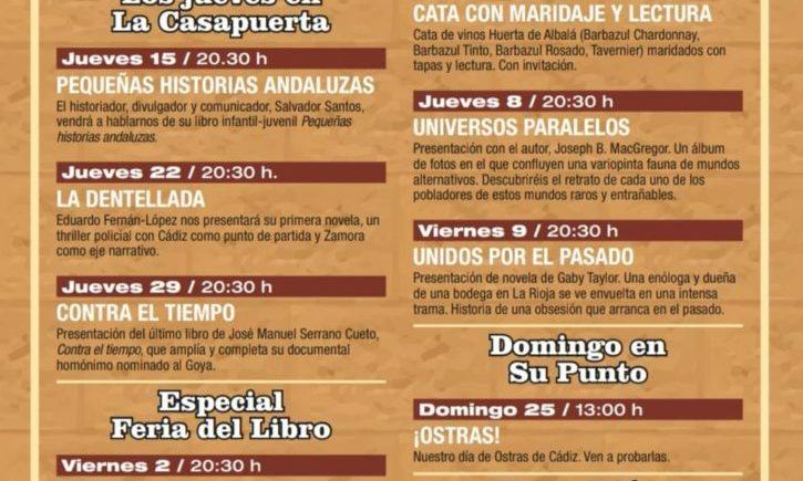 Programación gastronómica de La Casapuerta de Cádiz