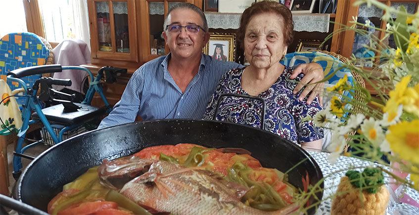 """Gambas de cordón, """"rosbí"""" de atún y el perol de Fernanda"""