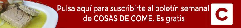 Suscríbete al boletín semanal de Cosasdecome